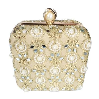 Princesse K Pearl Square Box Clutch