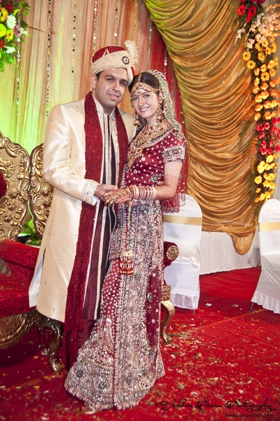 Traditional Indian groom attire adorned with an ornated Safa