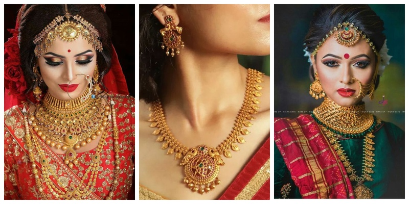 1681ced43 30 bridal gold necklace designs to check out before buying your wedding  jewellery!