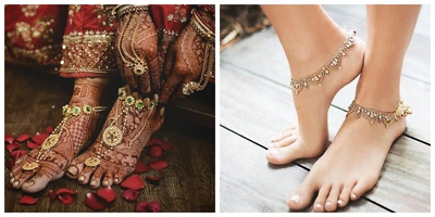 12 Beautiful Anklets to add to Your Bridal Trousseau