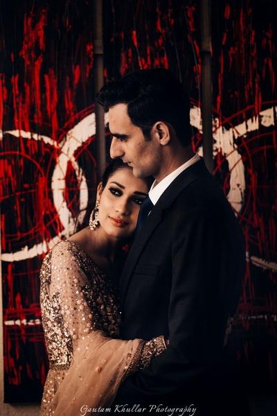 Post engagement couple shoot by Gautam Khullar Photography.