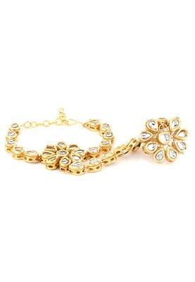 Imli Street Floral Hand Ring Bracelet