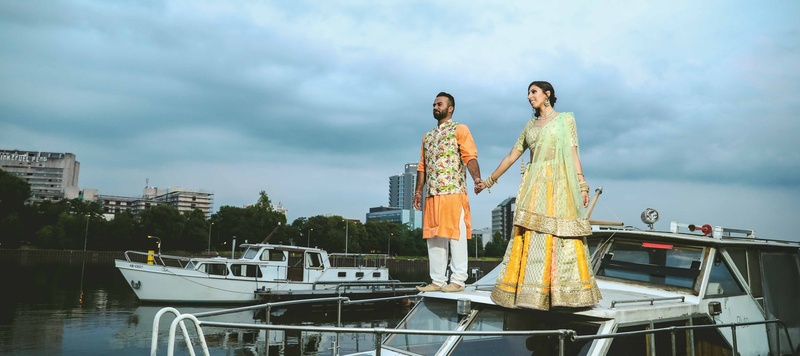Patrick & Ritam Frankfurt : This couple's matching wedding trousseau will give you major #couplegoals!