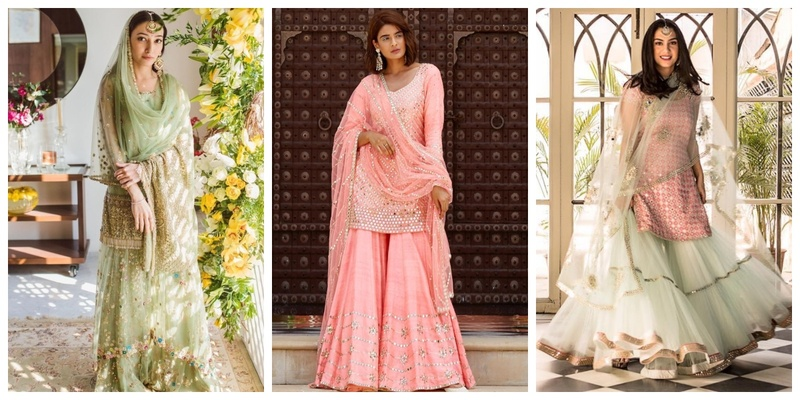 Brides, here are 10 Must-have Sharara Designs for Your D-day