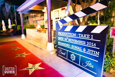 Quirky decor for Sonal and Jitin's engagement