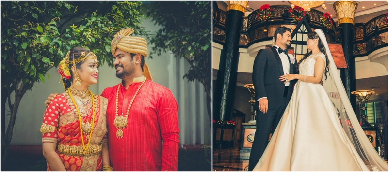 Charles & Sindhu Mumbai : This duo had their wedding functions all over the world and stormed the net with their glam outfits!