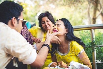 haldi ceremony for the bride to be