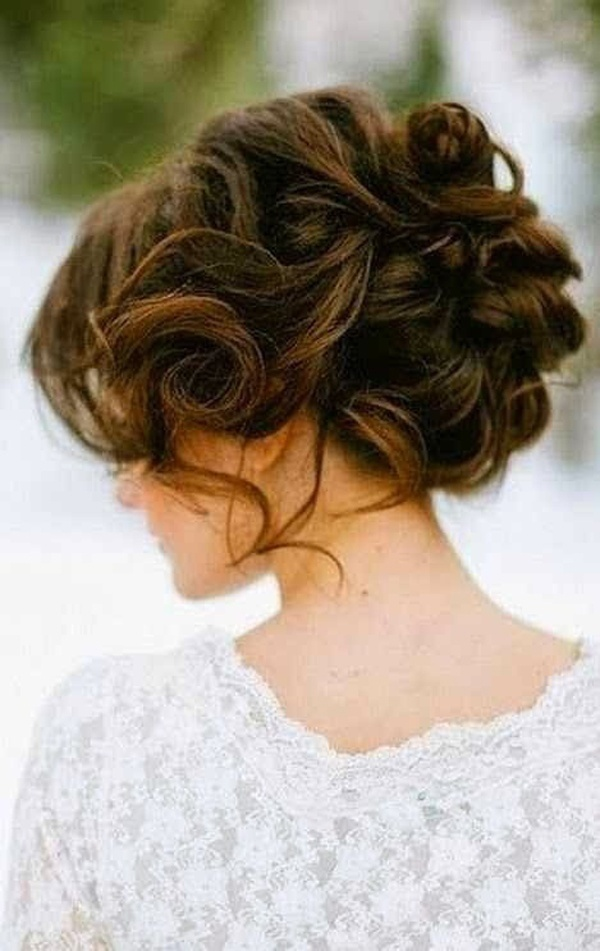 Tousled Curly Updo