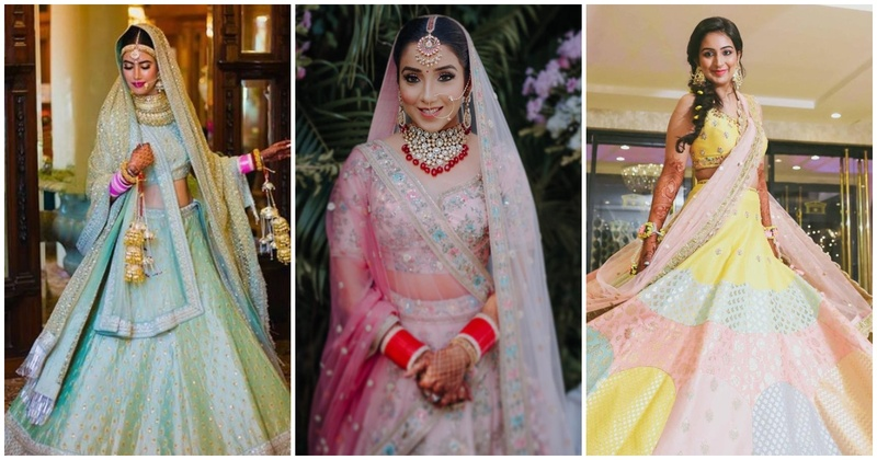 10 brides who have slayed their weddings in pastel lehengas!