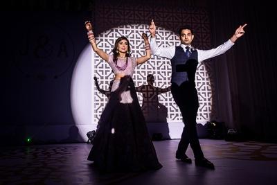 Post wedding couple dance