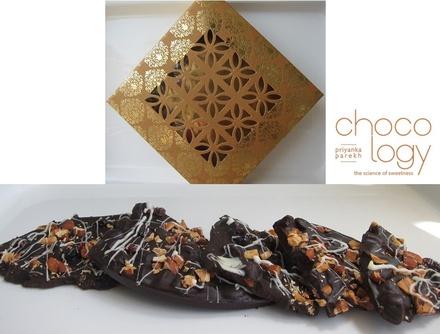 Chocology Dark Chocolate Almond Cranberry Bark