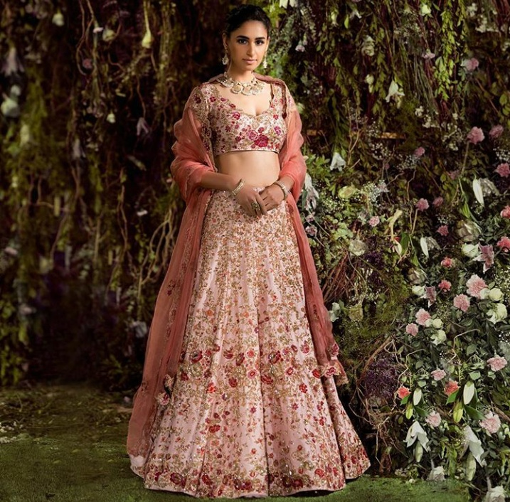 14. You can grab this beautiful lehenga from Shyamal and Bhumika's spring couture!
