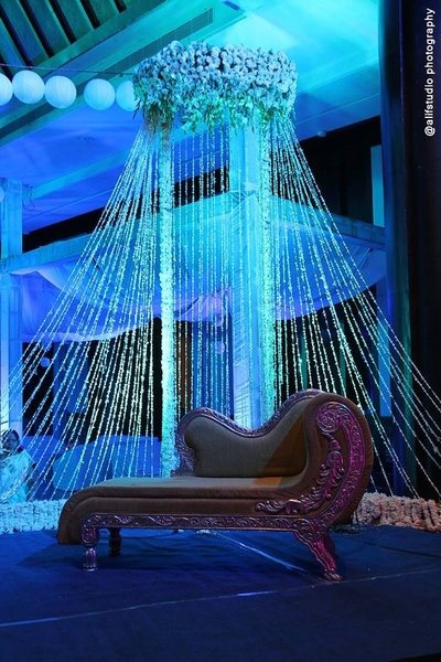 Diwaan and patterned decor ideas for indian weddings