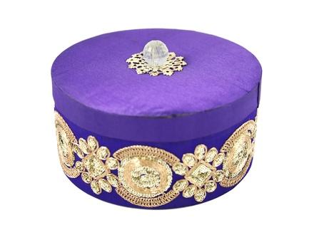 Purple Ladoo Round Dibba