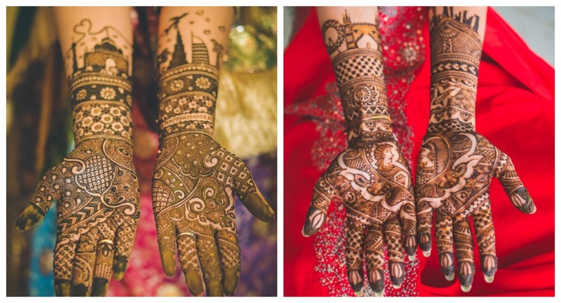 15+ Brides who told their Love Story through their mehndi design!