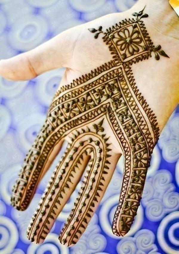 Arabic Bridal Mehndi Designs for Half Hands