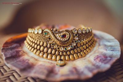 closeup shot of the bridal jewellery
