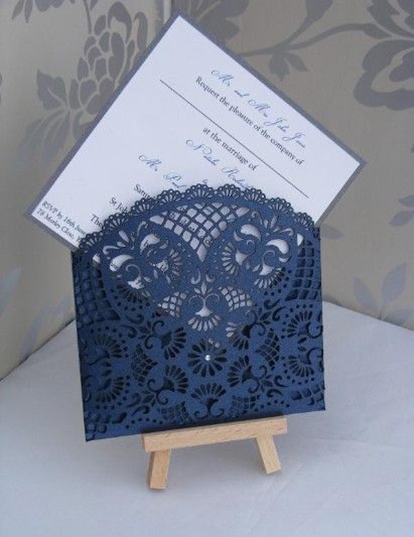 Hollow Laser Cut Wedding Invitation Cards