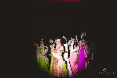 Sangeet ceremony girl gang fun!