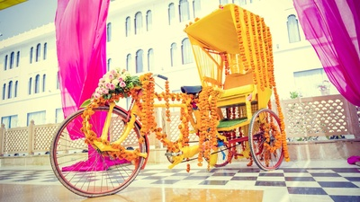 Summer wedding decor done by Dream Knots for the haldi and mehndi function.