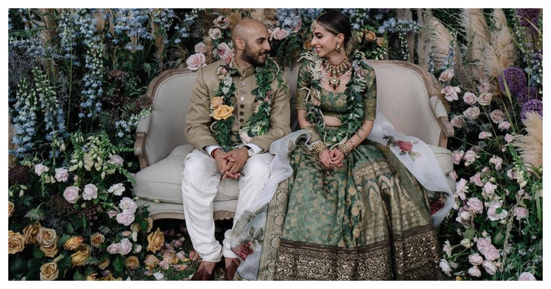 This bride wore a Green Sabyasachi Lehenga & we've never seen anyone look SO Royal!