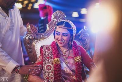 Candid bridal shot by ace photographer Siddharth Sharma.