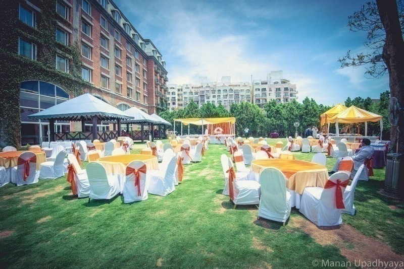 Venue with a huge space for the wedding celebrations