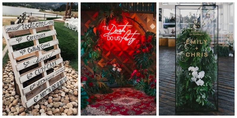 10 Wedding Signage Ideas to Jazz up Your Wedding