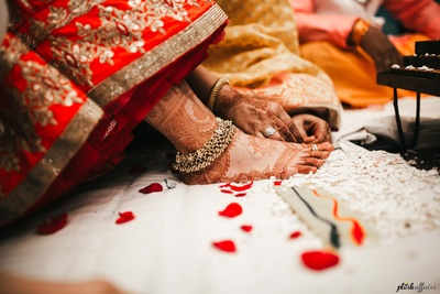 Wedding rituals captured by Plush Affairs at Amer Greens, Bhopal