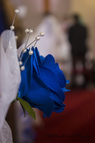 Paper crafted, handmade blue Rose