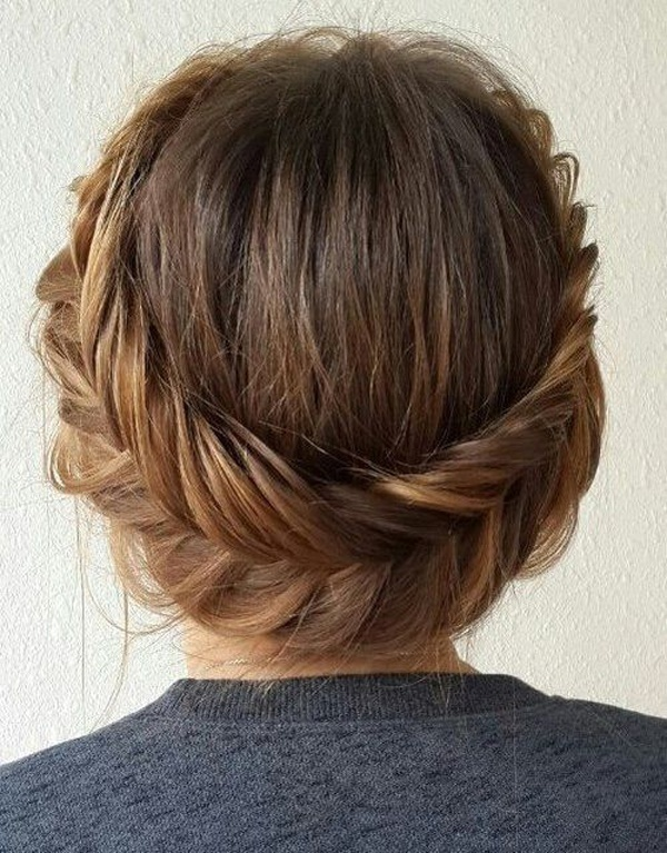 Fishtail Halo Updo Hairstyle