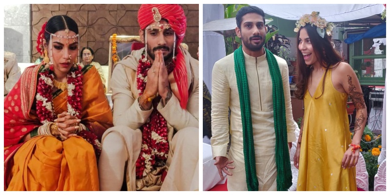 Prateik Babbar tied the knot to his longtime girlfriend in an intimate wedding which was all about LOVE!