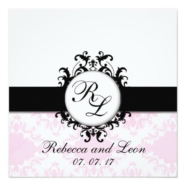 Initials Wedding Invitations