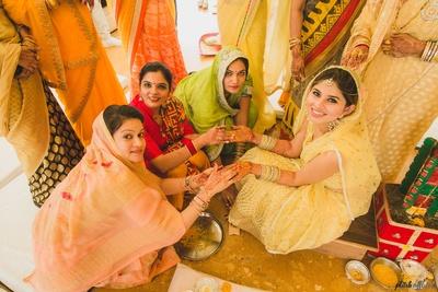 haldi ceremony for the bubbly bride