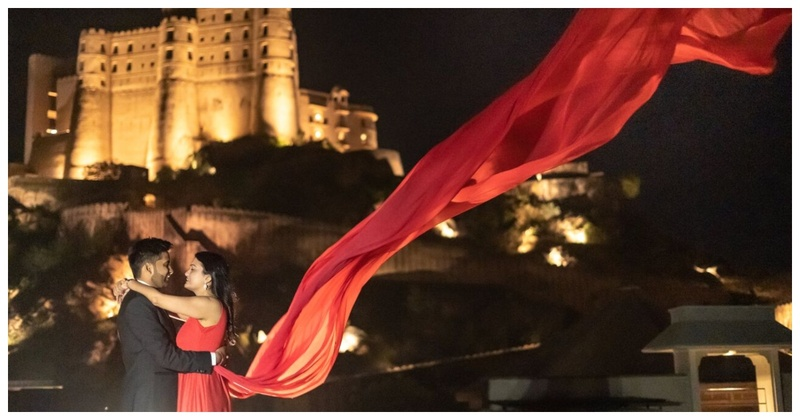 This couple's royal photoshoot at Alila Bishangarh is spectacular!