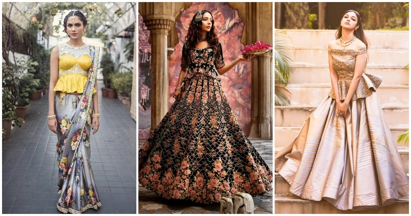 8 peplum-styled lehenga designs that are trending wedding season!