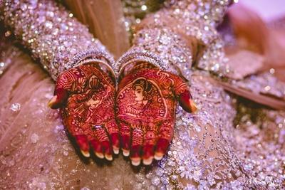 Intricate bridal mehendi design