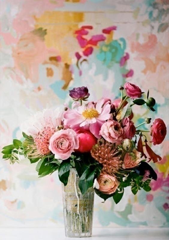 Watercolor Wedding Centrepieces