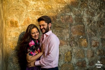 Happy and cheerful love birds all set for a new life ahead of them