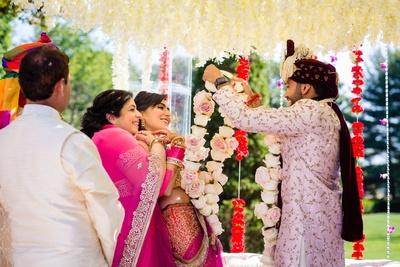 jaimala fun for the bride and groom