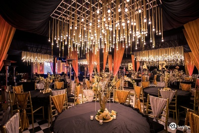 Reception decor for post wedding function