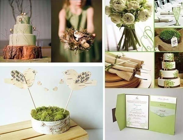 Simply keep a green colour wedding theme – rest all the elements will fall in place