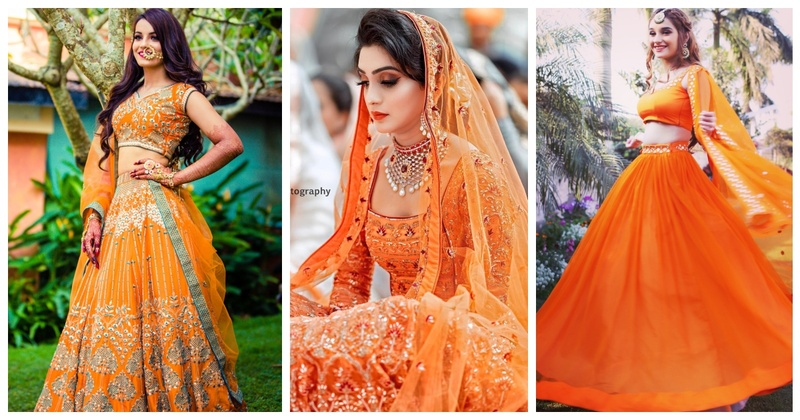 10 Orange Lehengas that prove 'Orange is the New Red' when it comes to Bridal Lehengas!