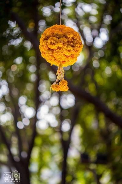 Taj Deccan, Hyderabad decorated with Marigold topiaries