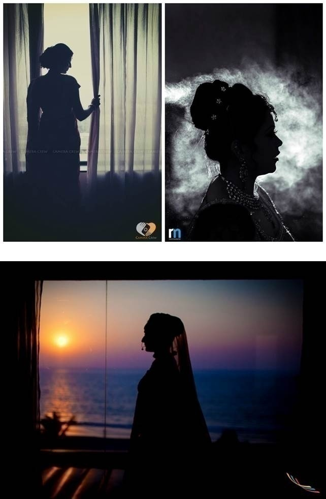 WEDDING PHOTO IDEA: BRIDAL SILHOUETTE
