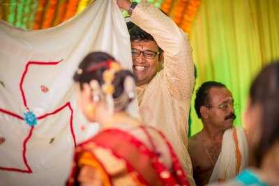Antarpaath ceremony commonly practiced in the Maharashtrian weddings