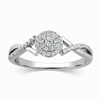 Roz Diamond Platinum Ring image