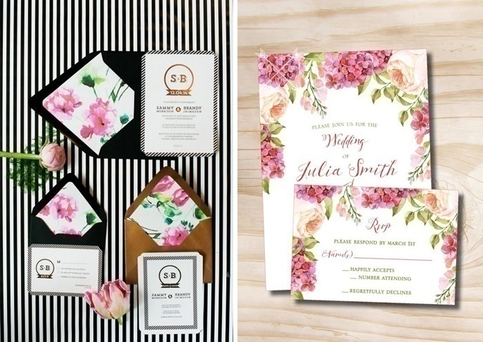 Prints on Wedding Invite Cards