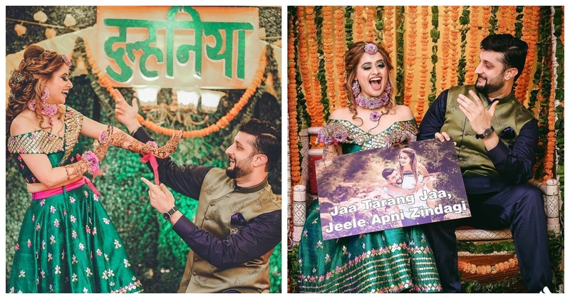 Colour Pop Alert: Tarang and Rohit had the Quirkiest Super Fun Mehendi Ceremony!