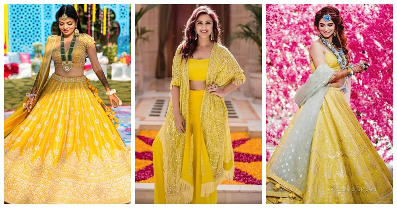 Navratri #Day6- Yellow Colour Inspiration for Brides and Bridesmaids